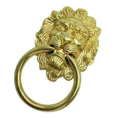 Antique Lion Head Handle Door Cabinet Drawer Cabinet Pull Ring Knob Gold_L