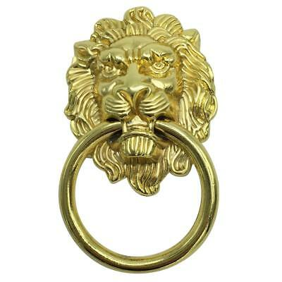 Antique Lion Head Handle Door Cabinet Drawer Cabinet Pull Ring Knob Gold_S