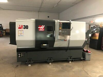 Used 2013 Haas ST-30T CNC Turning Center Lathe Tailstock Chip Con High Pressure