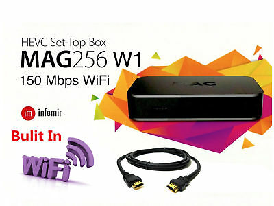 LATEST VERSION 2018 MAG 256W1 New Model SET-TOP-BOX by INFOMIR. WIFI+HDMI CABLE