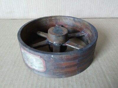"""Vtg Wood Foundry Pulley 6-3/4 X 2-1/4"""" Industrial Pattern Casting Mold Steampunk"""
