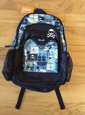 NWT Gymboree School Backpack Pirates Skull Crossbones Navy blue New with tags