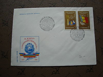 ROMANIA envelope 27/12/82 -stamp Yvert and Tellier n°3416 3417 (cy2)