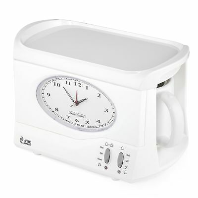 Swan STM201N Vintage Teasmade - Rapid Water Boiler with Clock and Alarm Featurin