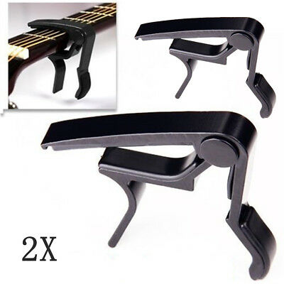 2x Quick Change Clamp Key Trigger Capo For Acoustic Classical Electric Guitar US