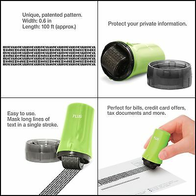 Identity Theft Protection Roller Stamp Safe Prevention Refill Security Ink Set