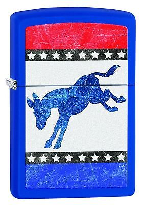 Zippo Democratic Donkey Pocket Lighter Royal Blue Matte