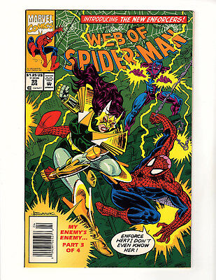 Web of Spider-Man #99 (1993 Marvel) VF/NM 1st App Nightwatch! Newsstand