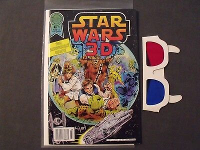 Star Wars 3-D #1 - Blackthorne Publishing #30 Comic 1987 with Glasses