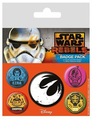 "Star Wars Rebels : Ansteck-Buttons ""- Rebels"" 5er-Pack"