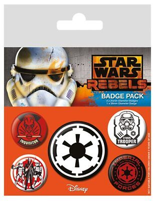 "Star Wars Rebels : Ansteck-Buttons ""Villains"" 5er-Pack"