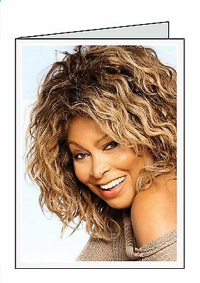 TINA TURNER PERSONALISED INSIDE OUTSIDE HANDMADE CARD OPEN BIRTHDAY ANNIVERSARY