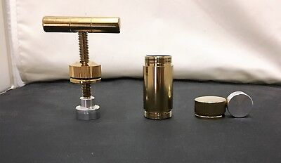 """Small Gold Handheld T-Pollen Press 3/4"""" Round Puck - Heavy Duty - Free Shipping"""