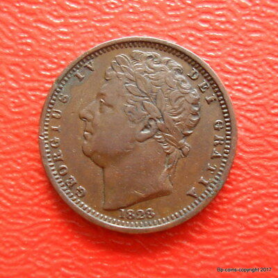 King George Iv Scare 1828 Half Farthing High Collectable Grade.