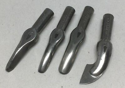 Vintage Linocraft Tips Only Set of 4 Lino Cutting Pen Tools Perry & Co London