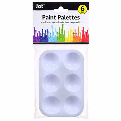 Jot 6 Pack Plastic Paint Palette Trays Artist Painter