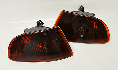 Front JDM Smoke Amber Corner Lights for Honda Civic 92-95 2/3dr