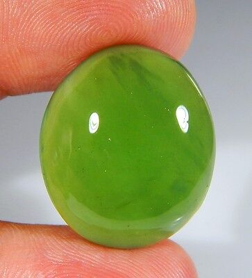 30 Ct Top Natural Green Emerald Color Serpentine Jade Oval Cabochon Gemstone A10