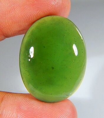 36 Ct Top Natural Green Emerald Color Serpentine Jade Oval Cabochon Gemstone A03