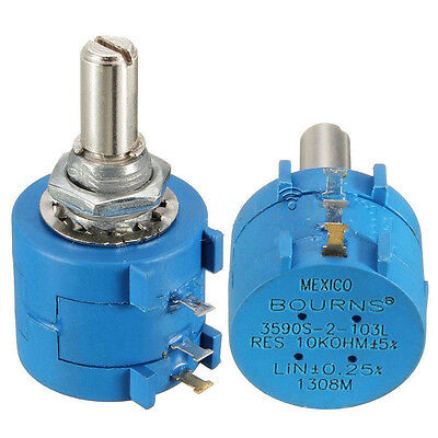 3590S-2-103L 10K Ohm BOURNS Rotary Wirewound Precision Potentiometer Pot Turn YJ
