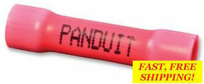 50 PACK~ BSV18X-MY PANDUIT BUTT SPLICE VINYL TERMINAL INSULATED 18-22AWG 26.16mm