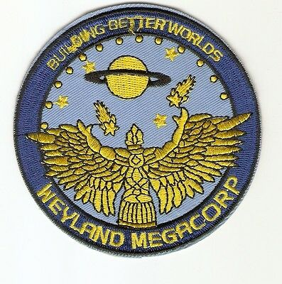 + ALIEN Aufnäher Patch WEYLAND MEGACORP Building better Worlds