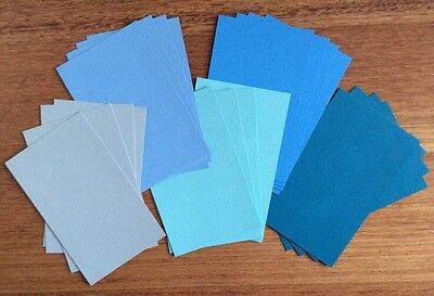 "A5 ""BLUES"" TEXTURED CARDSTOCK, 20 pack, 5 COLOURS, 216gsm"