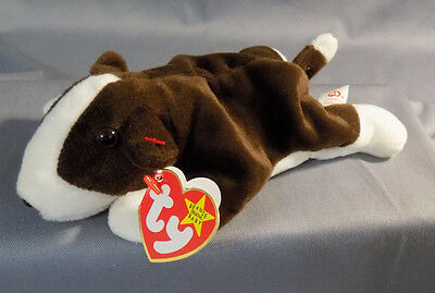 b8d0162fc9a TY Beanie Baby Bruno the Dog 1997 Retired with tag errors oddities