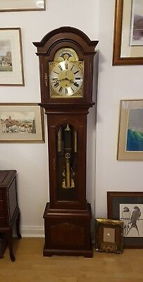 Warmink Grandfather Clock From Billib Westminster Chime With Walnut Finish