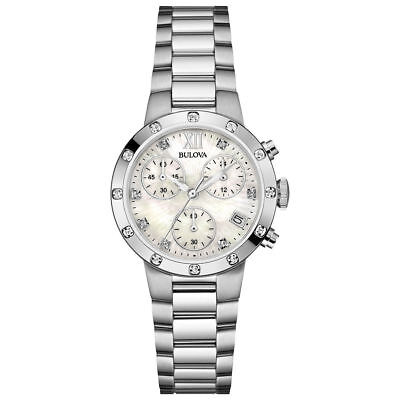 Bulova Ladies Stainless Diamond Watch Stainless 96R202