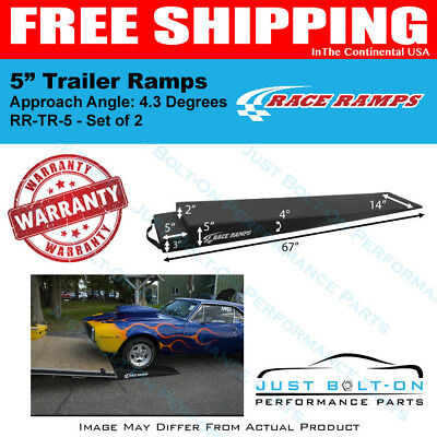 """Race Ramps 5"""" Trailer Ramps 4.3 Degrees Approach Angle (Set of 2) RR-TR-5"""