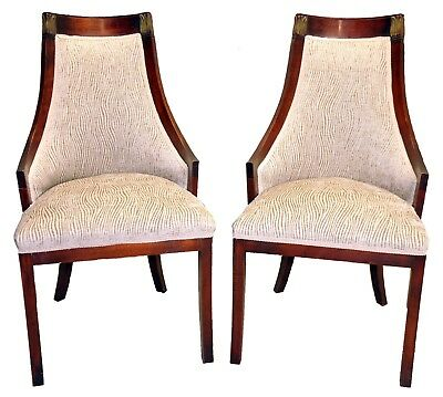Pair of Newly Upholstered Mahogany Directoire Side Chairs, c. 1910's