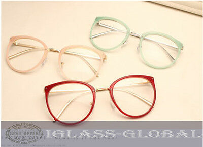 Cat eye Vintage Men Women Eyeglasses Frames Glasses Retro Spectacles Eyewear