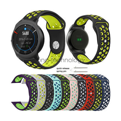 Replacement Soft Sport Silicone Wrist Watch Band Strap For Ticwatch 2 / E 20mm