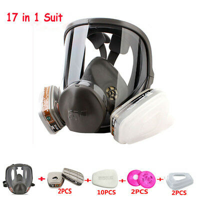 17 in1 Painting Spray Pesticide For 6800 Full Face Gas Mask Facepiece Respirator
