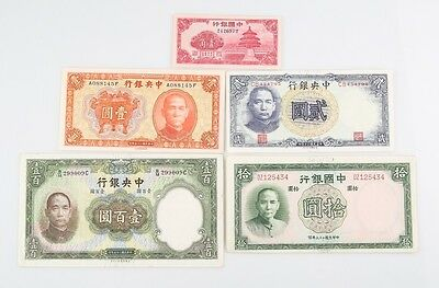 1936-1941 China ¥ Yuan & Cents Notes XF-UNC Central Bank P#211a 220 81 82 231
