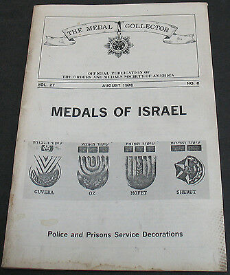 The Medal Collector 1976 Israel Medals Police & Prisons Service Decorations
