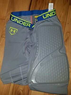 Mens Under Armour Baseball Gameday Padded Slider Shorts Compression XL X-Large