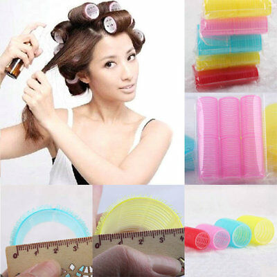 6Pcs/1Set BD New Big Self Grip Hair Rollers Cling Any Size DIY Hair Curlers