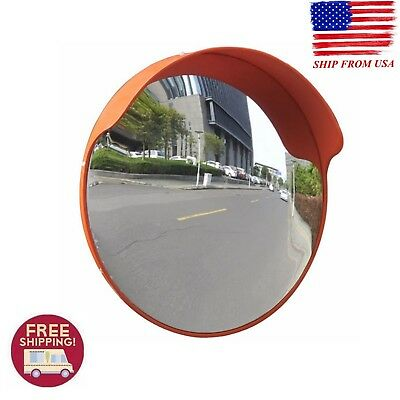 18'' Outdoor Road Traffic Convex Mirror Wide Angle Driveway Safety Easy Assemble