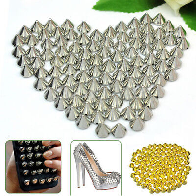 100 Pcs 10mm Stud Round Spike Rivet Craft Bag Leather Craft Accessories Reliable