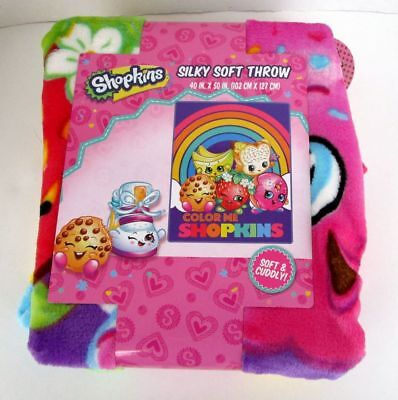 Shopkins Silky Silk Touch Super Soft Throw Blanket 40X50 Brand New Color Me