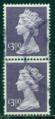 Great Britain Sg-Y1802, Scott # Mh-282 Vertical Pair, Used, Great Price!