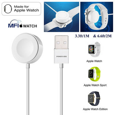 1/2M Magnetic Charger Charging Cable for Apple Watch Series 1 2 3 iWatch 38 42mm