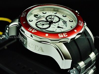Invicta Men 48mm Scuba Pro Diver ISA Chrono Poly Strap Watch w/1 Slot Case