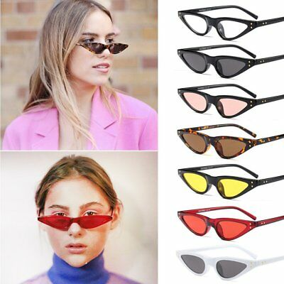 Vintage Women Cat's Eye Sunglasses Special Female PC Frame Eyewear Glasses AU