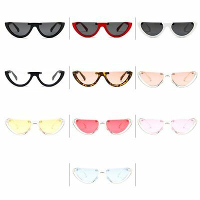 Women Vintage Half Frame Cat Eye Sunglasses Sexy Ladies Fashion Eyewear Retro AU