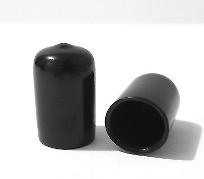 "0.625"" 5/8"" Black Vinyl Rubber Flexible Round Tube Tubing Pipe End Cover Caps"