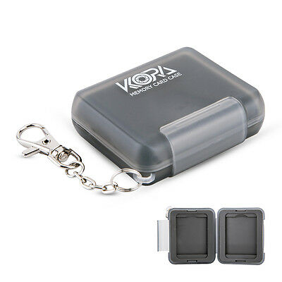 KORA Memory Card Case Hard Holder Cover W/ Key Chain For 2 CF(CompactFlash)Cards