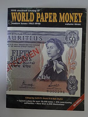 Standard Catalog of World Paper Money modern issues 4th Edition vol. 3